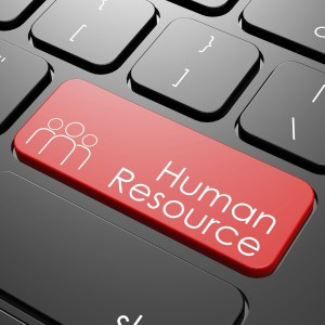 Human resource keyboard image with hi-res rendered artwork that could be used for any graphic design.